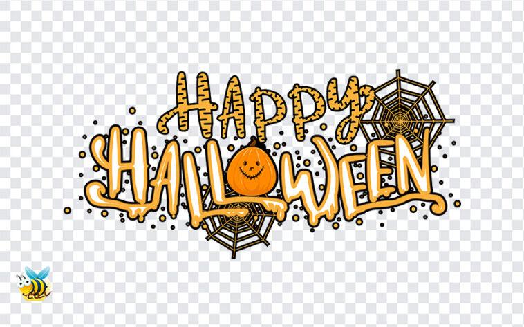 Happy Halloween Text PNG